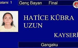 Hatice Kübra Uzun Online Kata Şampiyonasında birinci oldu