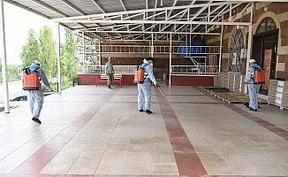 Muş Belediyesinden camilerde cuma hazırlığı