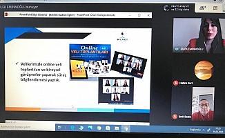 Özel okulda online eğitime devam