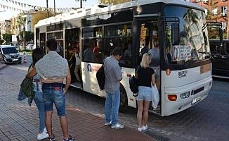 Alanya'daki otobüslerde o kural kaldırıldı!