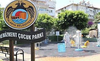 Alanya'da çocuklar için parklar hazırlıyor