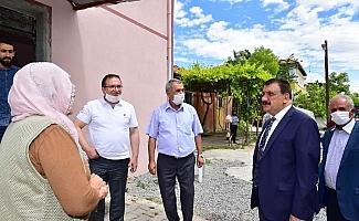 Başkan Gürkan, Akçadağ'da yatırımları yerinde inceledi