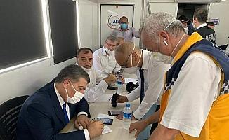 İl Sağlık Müdürü Aziz Öğütlü sağlık ve UMKE ekiplerine teşekkür etti
