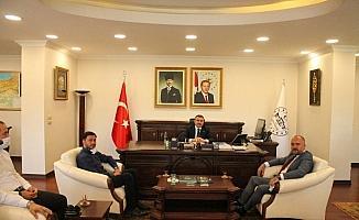 MÜSİAD Başkanı Pehlivan ve yönetiminden Vali Atay'a hayırlı olsun ziyareti