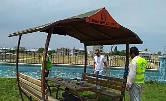 Tuşba'da tahrip edilen parklar onarılıyor