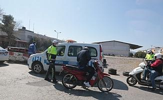 Akhisar'da denetlenen 120 motosikletten 86'sına ceza