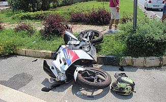 Alanya'da otomobille motosiklet çarpıştı: 1 ağır yaralı