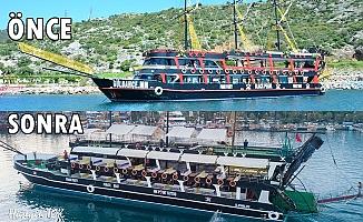 Alanya'nın en büyük korsan teknesinin genç mimarı