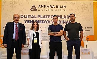 Ankara Bilim Üniversitesi'nde 'Dijital platformlar ve yeni medya Webinar'ı düzenlendi