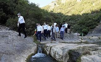 Başkan Büyükakın'dan Ballıkayalar Tabiat Parkı'nda inceleme