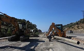 Manavgat'ta içme suyu hattı çalışması