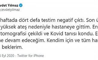 AK Parti Genel Başkan Yardımcısı Yılmaz Covid -19'a yakalandı