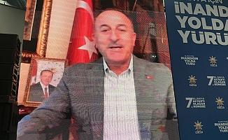 Bakan Çavuşoğlu kongreye telekonferansla bağlandı