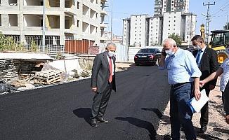 Başkan Büyükkılıç, Tapu Kadastro Bölge Müdürlüğü hizmet binası çevresindeki çalışmaları yerinde denetledi