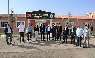 Edremitli muhtarlardan Tuşba Belediyesinin mega projelerine ziyaret
