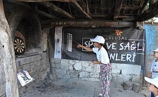 Köy fırınında dart yarışması