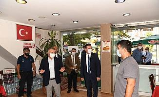 Vali Yazıcı Kumluca'da pandemi denetiminde