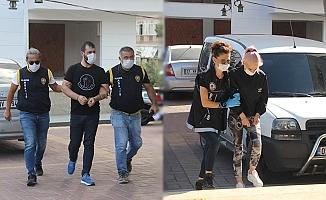 Alanya'da uyuşturucu baskınında yakalanan şüpheliler tutuklandı