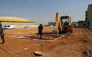 Eyyübiye'de halı saha temeli atıldı