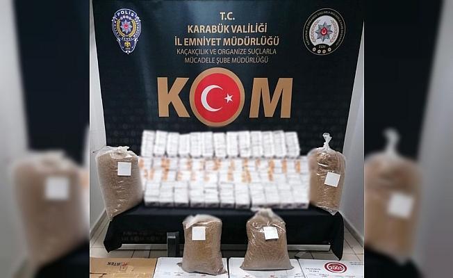 Karabük'te kaçak tütün ve sahte alkol operasyonu: 4 gözaltı