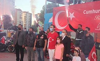 Kayseri'de motosiklet ve vosvoslu 29 Ekim coşkusu