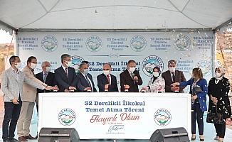 Talas'ta 32 derslikli ilkokulun temeli atıldı