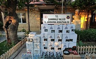 Çanakkale'de sahte ve kaçak içki operasyonu: 4 gözaltı