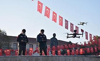 Sokağa çıkma kısıtlamasında droneli denetim