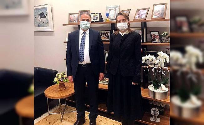 Başkan Bozkurt Başdanışman Oruç'u ziyaret etti