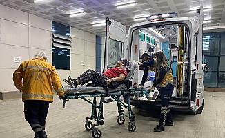 Düzce'de eşi tarafından dövülen kadın hastanelik oldu