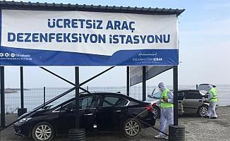 Fatsa'da 8 ayda 15 bin 500 araç dezenfekte edildi