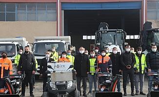 Niğde Belediyesi Kışa Hazır Kar Yağışını bekliyor