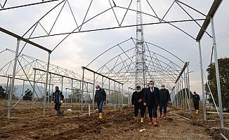 ODÜ uygulama arazisinde seralar kuruluyor