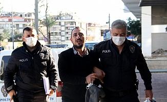 Alanya'da hasmının iş yerini kundaklayan şüpheli tutuklandı