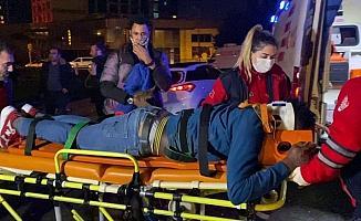Alkollü şahısların araçta eğlencesi kaza ile noktalandı: 1 yaralı
