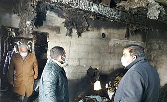 Başkan Çalkın'ndan evi yanan Acar ailesine anlamlı ziyaret