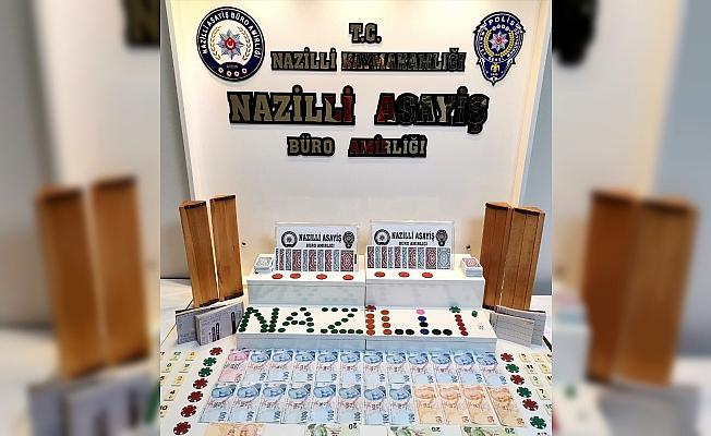 Nazilli'de kumar baskını