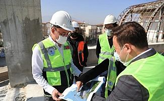 Başkan Örki, hafta sonu mesaisinde çalışmaları yerinde inceledi