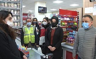 Kaymakam Arslan'dan, Çekmeköy esnafına korona virüs denetimi