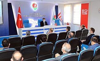 """Vali Masatlı: """"Vaka ortalamaları yüksek illere komşu olmamız Amasya'yı olumsuz yönde etkilemekte"""""""