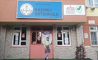 Alaplılı ortaokul öğrencisi kompozisyon yarışmasında Türkiye birincisi oldu