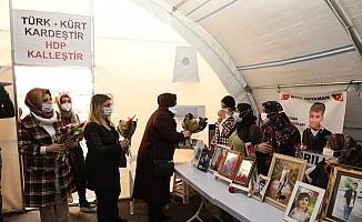 Diyarbakır'daki kadın STK, dernek ve vakıf temsilcileri, evlat nöbeti tutan ailelere ziyaret