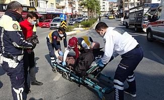 Motosiklet sürücüsü ölümden döndü
