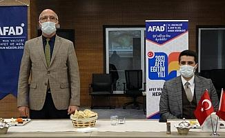 """Muş AFAD'dan """"2021 Afet Eğitim Yılı"""" bilgilendirme toplantısı"""