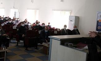 Mut'ta AFAD tarafından eğitim toplantısı düzenledi