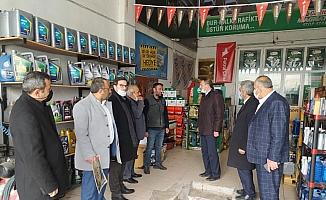 Saadet Partisi'nden sanayi esnafına ziyaret