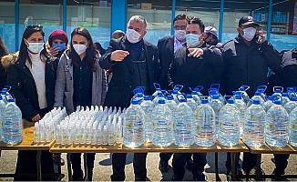 Beylikova'da dezenfektan dağıtımı yapıldı