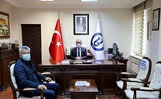 İl Müdürü Şahin'den Rektör Uzun'a veda ziyareti