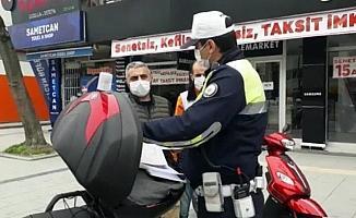 Motosikleti ile izinsiz sokağa çıktı, 5 ayrı ceza yedi