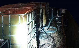 Polis baskınında 3 bin litre kaçak akaryakıt ele geçirildi